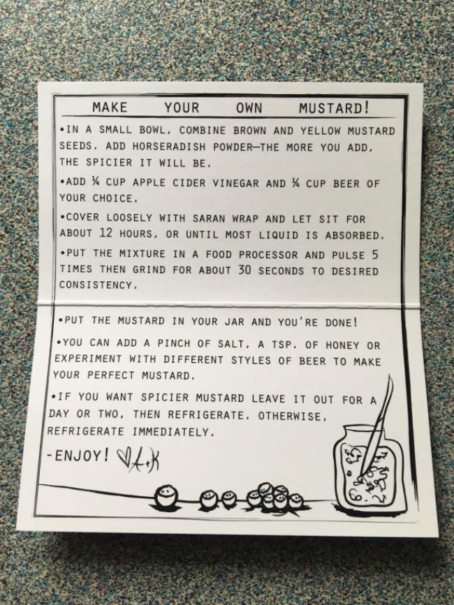 Mustard Instructions