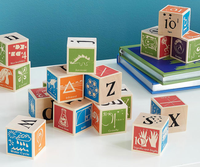 Super Nerdy ABC Blocks | UncommonGoods