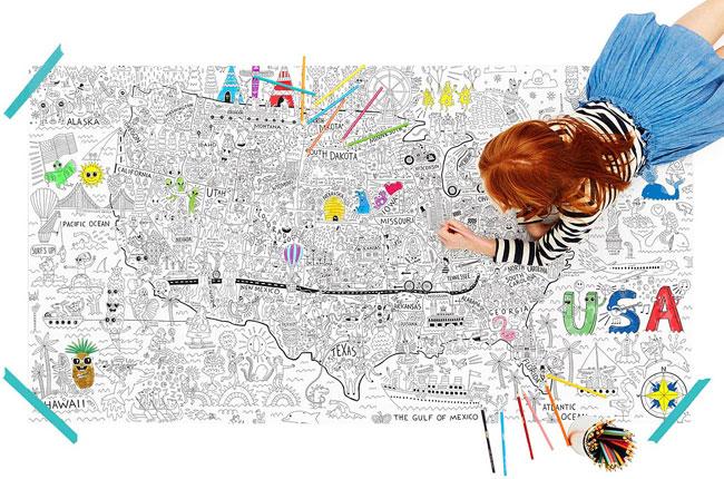 USA Jumbo Coloring Poster   UncommonGoods