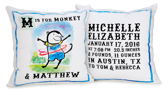 Personalized My Alphabet Pillow | UncommonGoods