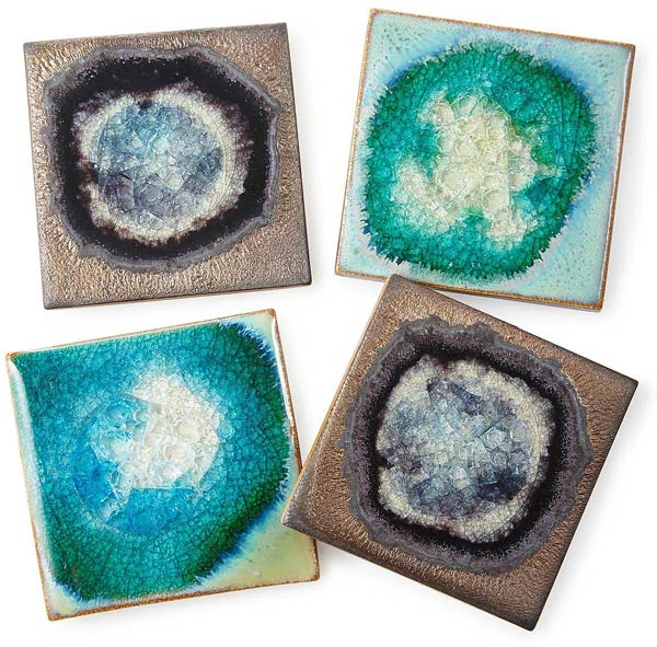 Stoneware and Crackled Glass Coaster Sets | UncommonGoods