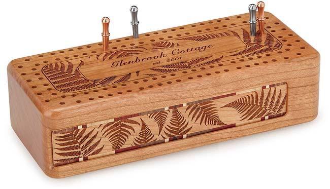 Custom Fern Cribbage Board | UncommonGoods