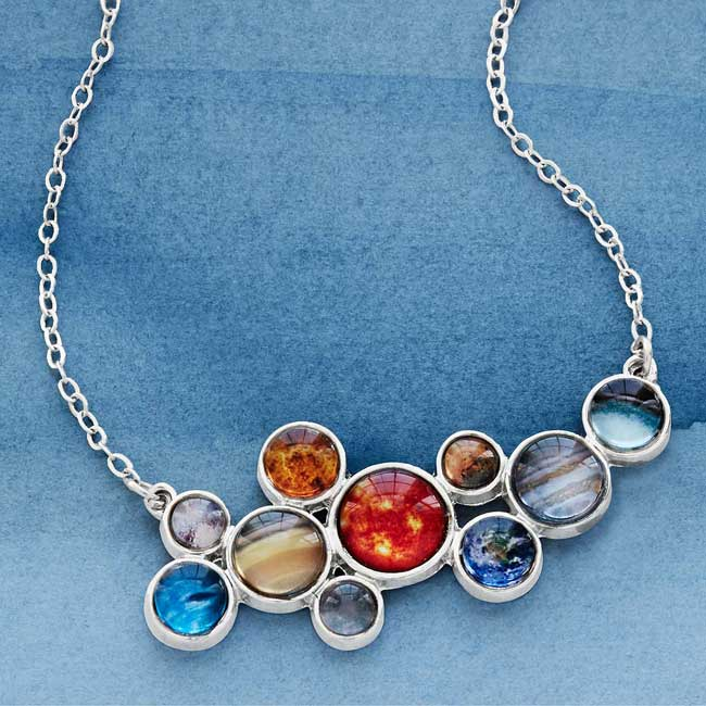 Solar System Bubble Bib Necklace | UncommonGoods