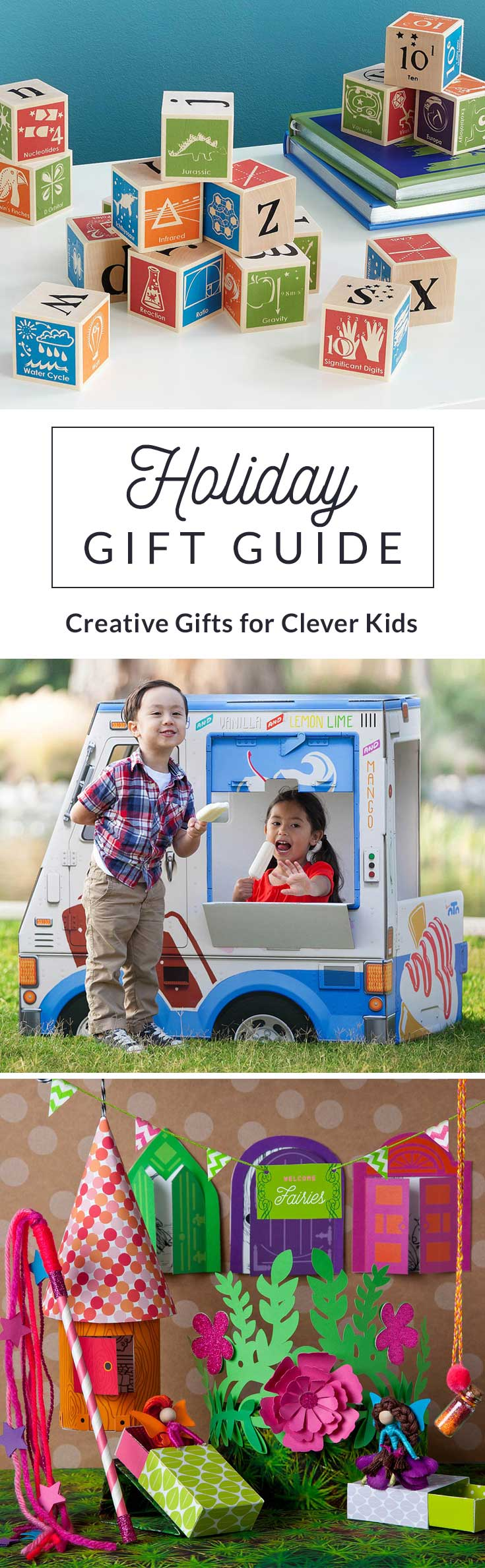 We selected an assortment of fun and educational gift for kids that are sure to keep little ones entertained while those little brains grow big and strong.