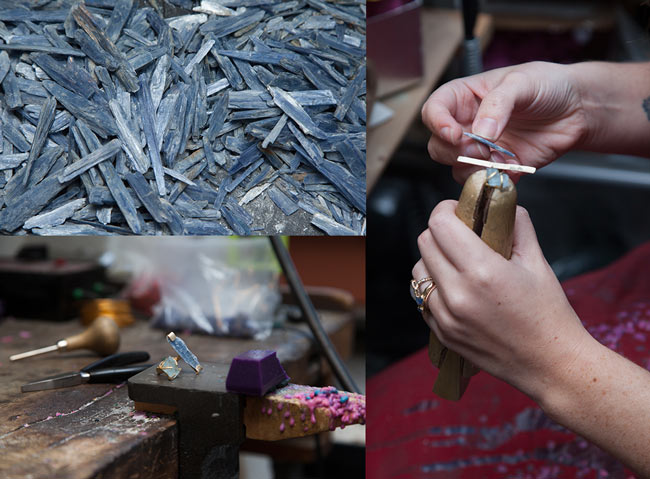 Emilie Shapiro crafting her Waterfall Ring | UncommonGoods