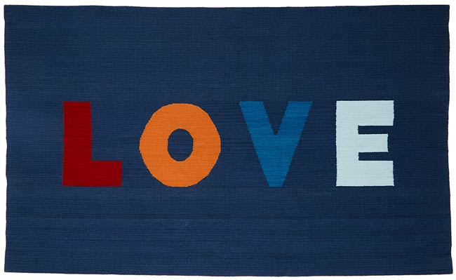 Spread the Love Rug | UncommonGoods