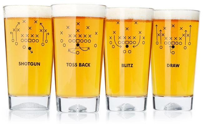 Football Playbook Glasses | UncommonGoods