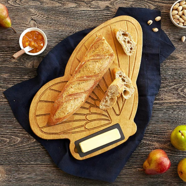Bread & Butterfly Serving Board - UncommonGoods