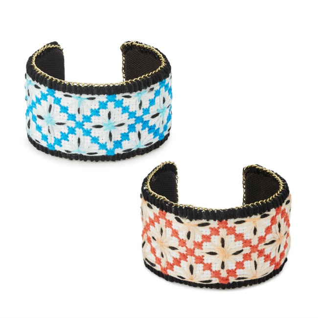 Embroidered Sunburst Cuff - UncommonGoods