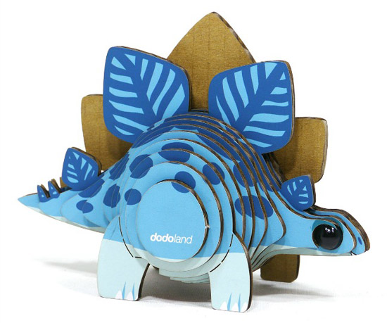 Mini Stegosaurus 3D Model Kit - UncommonGoods