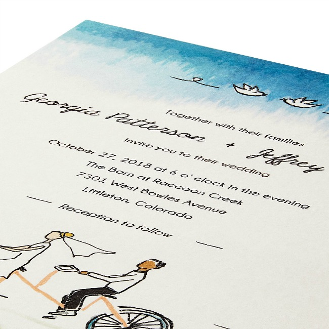 Tandem Bike Wedding Invitations - UncommonGoods