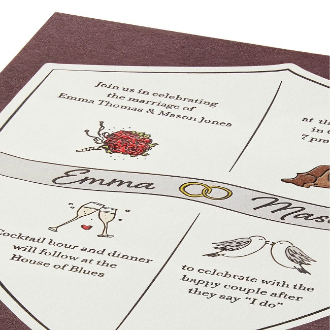 Wedding Crest Wedding Stationery - UncommonGoods