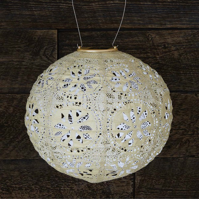 Pearl Globe Solar Lantern - UncommonGoods