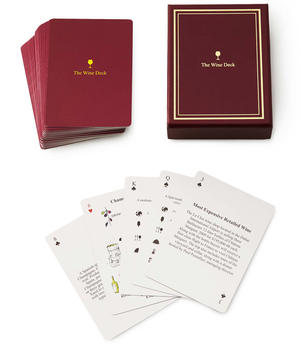 Wine Lover's Card Deck - UncommonGoods
