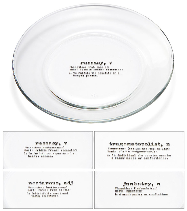 Life By Definition Dessert Plates - UncommonGoods