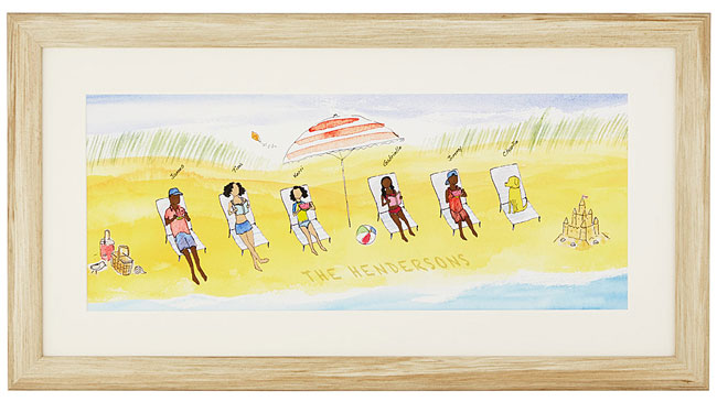 Personalized Family Beach Art - UncommonGoods