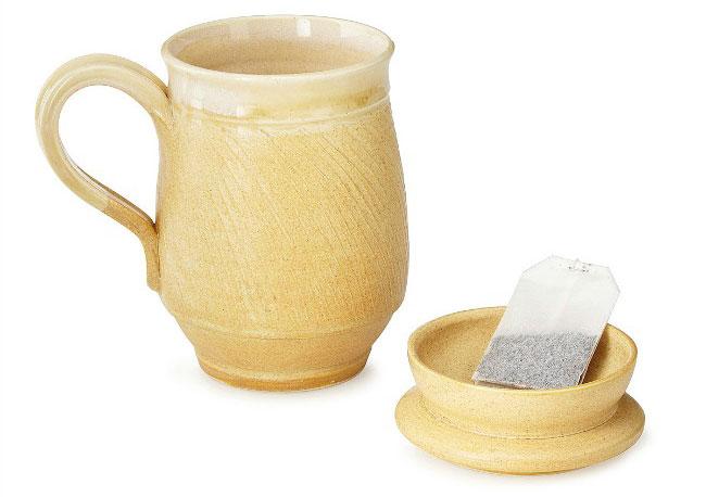Mug with Tea Bag Holding Lid - UncommonGoods
