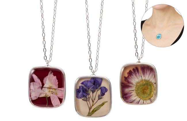 Birth Month Flower Necklace - UncommonGoods