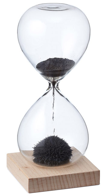 Magnetic Sand Hourglass - UncommonGoods