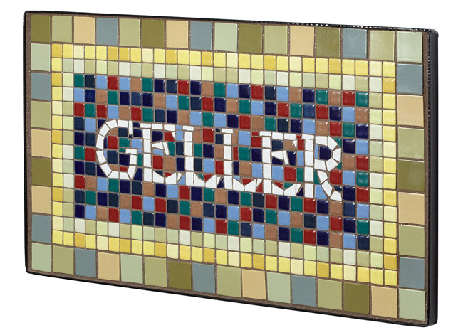 Personalized Handmade Mosaic House Sign | UncommonGoods