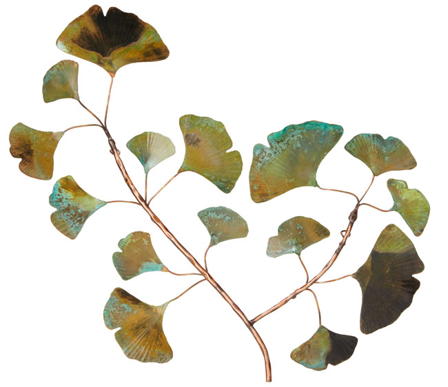Copper Patina Ginkgo Wall Piece | UncommonGoods