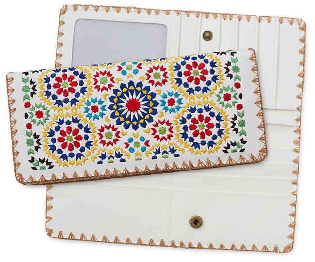 Fez Mosaic Embroidered Wallet | UncommonGoods