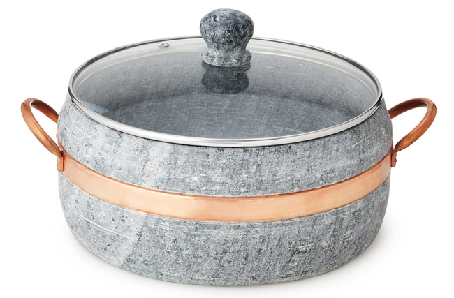 Soapstone Stew Pot with Copper Handle | UncommonGoods