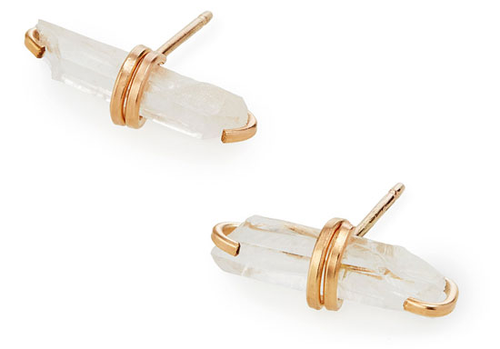 Wrapped Crystal Bar Earrings | UncommonGoods
