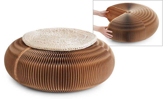 Accordion Pouf | UncommonGoods