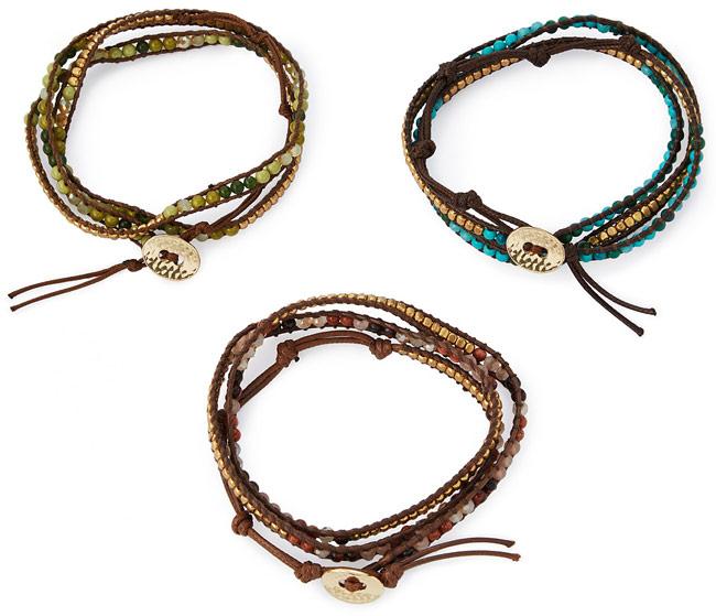 Semi Precious Stone Wrap Bracelet - UncommonGoods