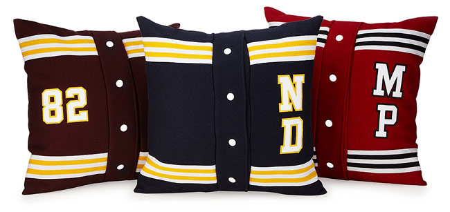 Personalized Letterman Pillow | UncommonGoods