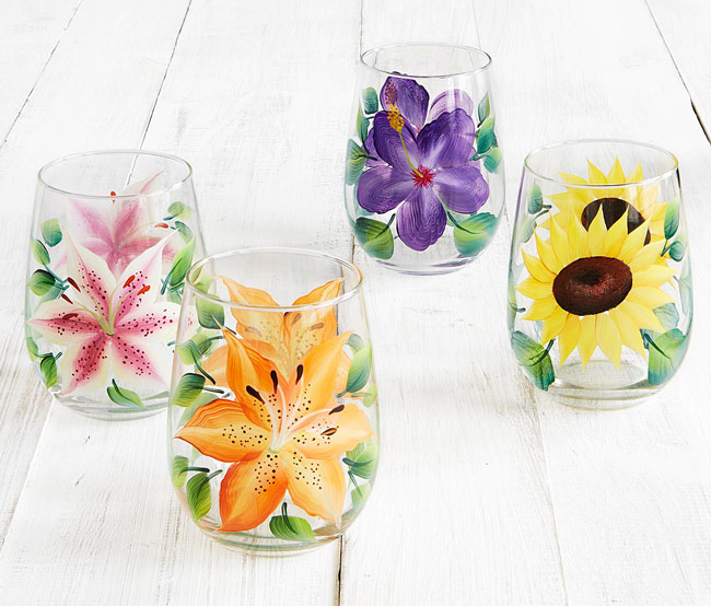 Floral Glasses - UncommonGoods