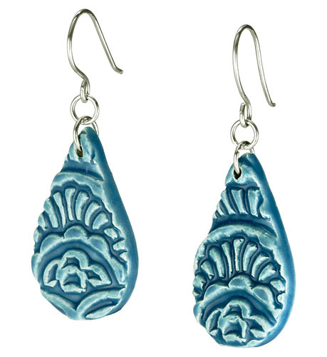 Teal Teardrop Earrings | UncommonGoods