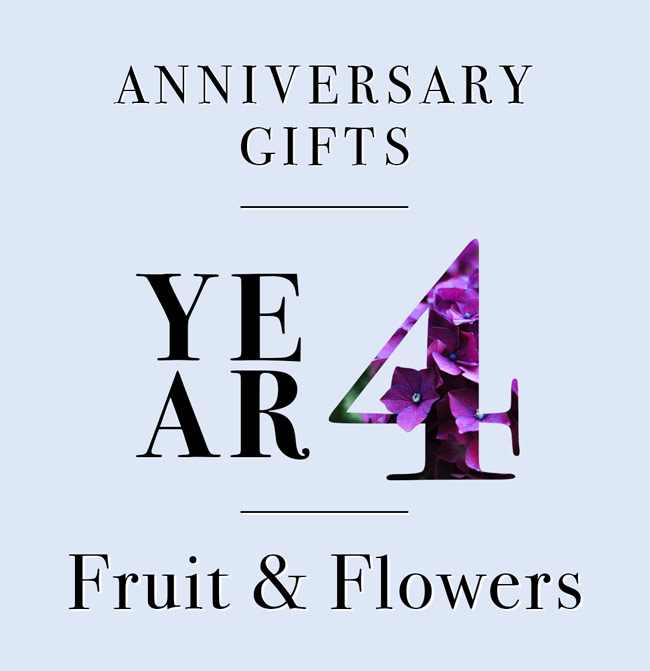 Fruit And Flowers Wedding Anniversary Gifts: Our Guide To Fourth Anniversary Gifts: A Fresh Take On