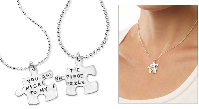Missing Piece Puzzle Necklace | UncommonGoods