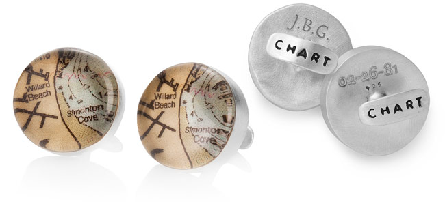 Custom Map Cufflinks | UncommonGoods