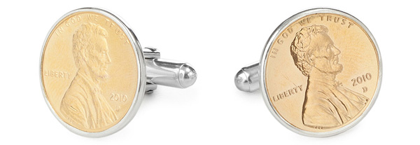 Penny Cufflinks With Personalized Year | UncommonGoods