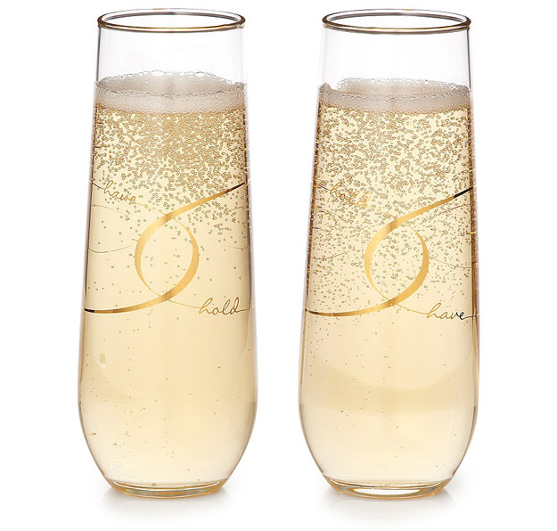Have & Hold Stemless Champagne Flutes | UncommonGoods