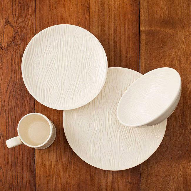 Porcelain Faux Bois Dishware Collection   UncommonGoods