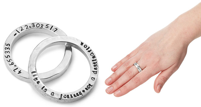 Latitude Longitude Custom Rings | UncommonGoods