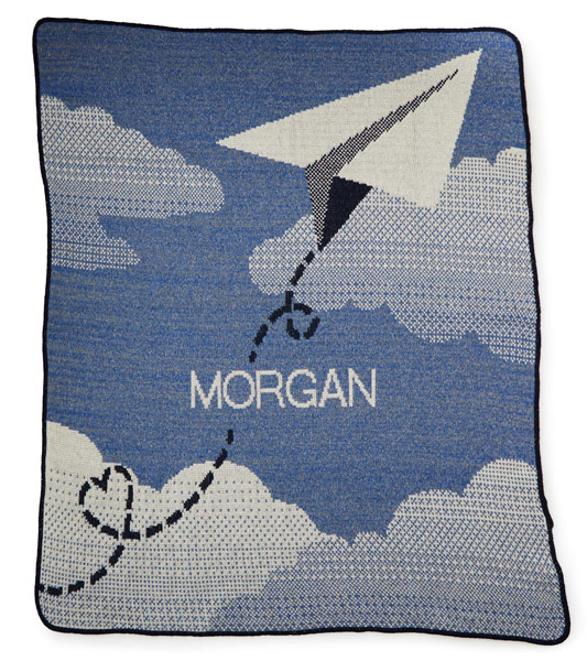 Personalized Paper Airplane Throw | UncommonGoods