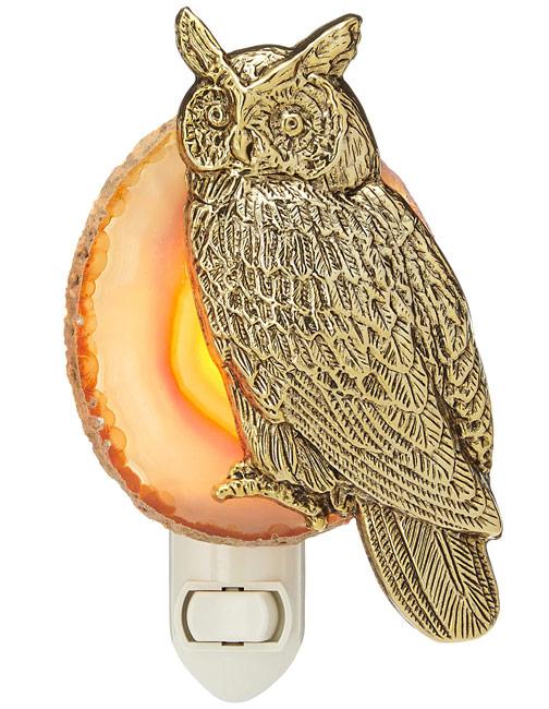 Night Owl Agate Nightlight | UncommonGoods