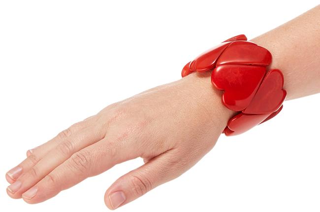 Crimson Heart Bracelet | UncommonGoods