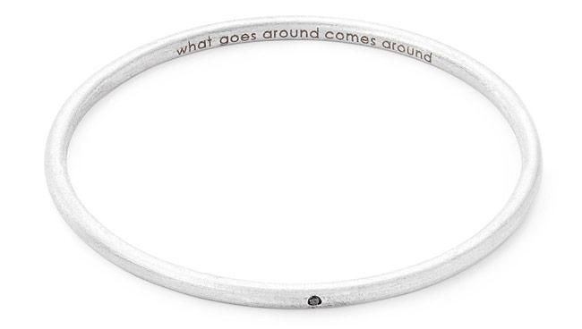 Personalized Single Diamond Bangle | UncommonGoods