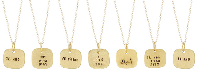 Language of Love Necklaces | UncommonGoods