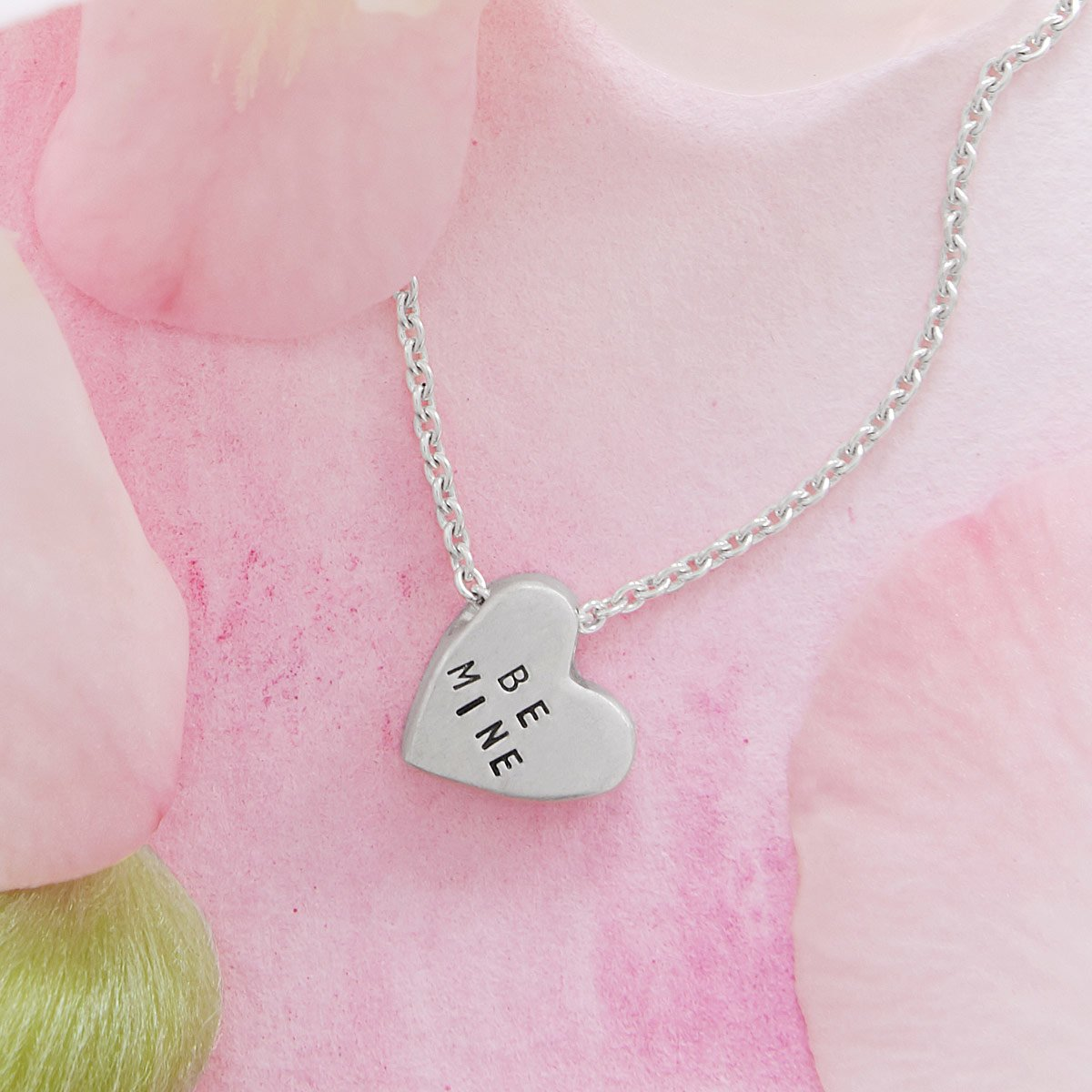 Sterling Silver Conversation Heart Necklace