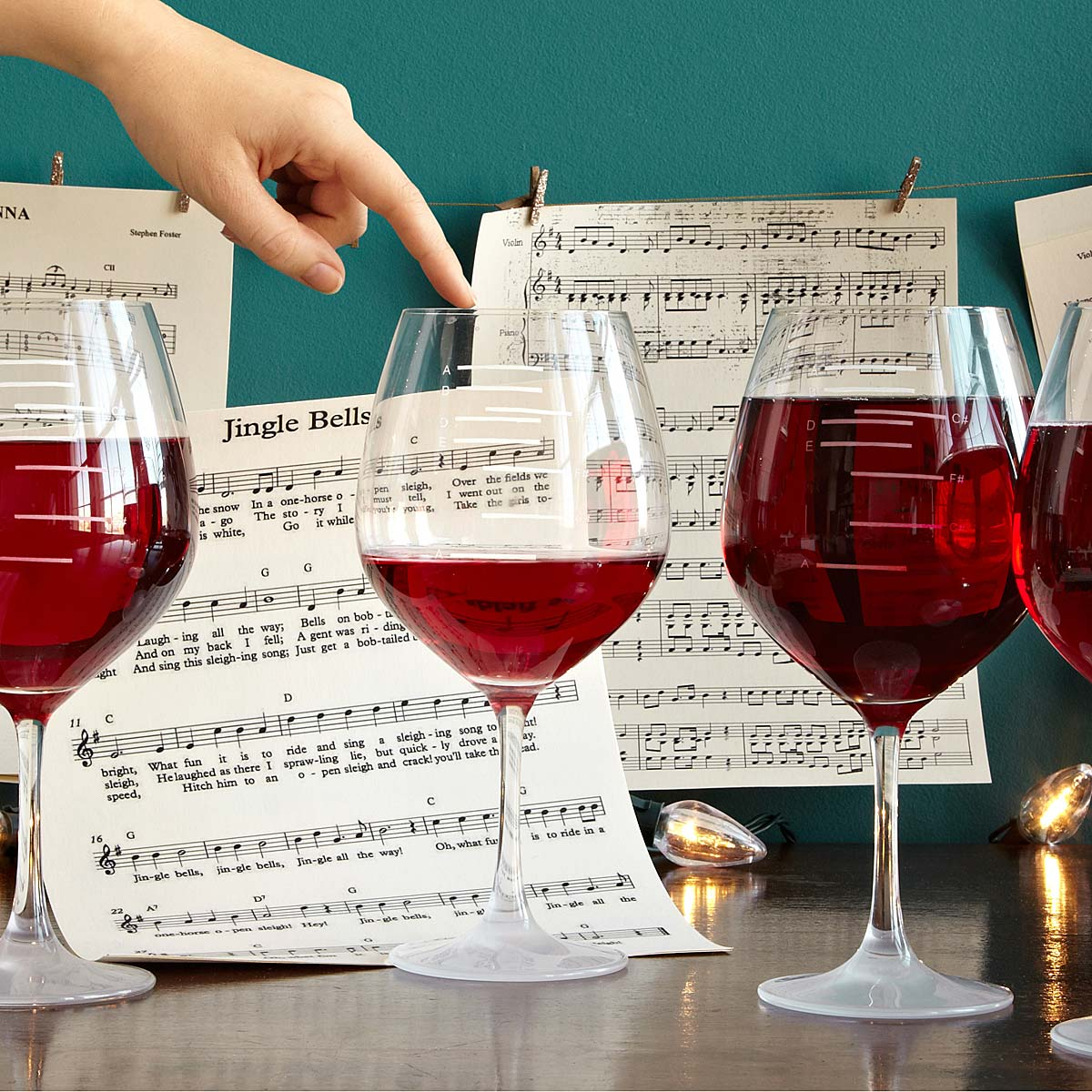 ae55f17dc71 Major Scale Musical Wine Glasses - Set of 2 | Etched Red Wine Glasses,  Music, tune | UncommonGoods