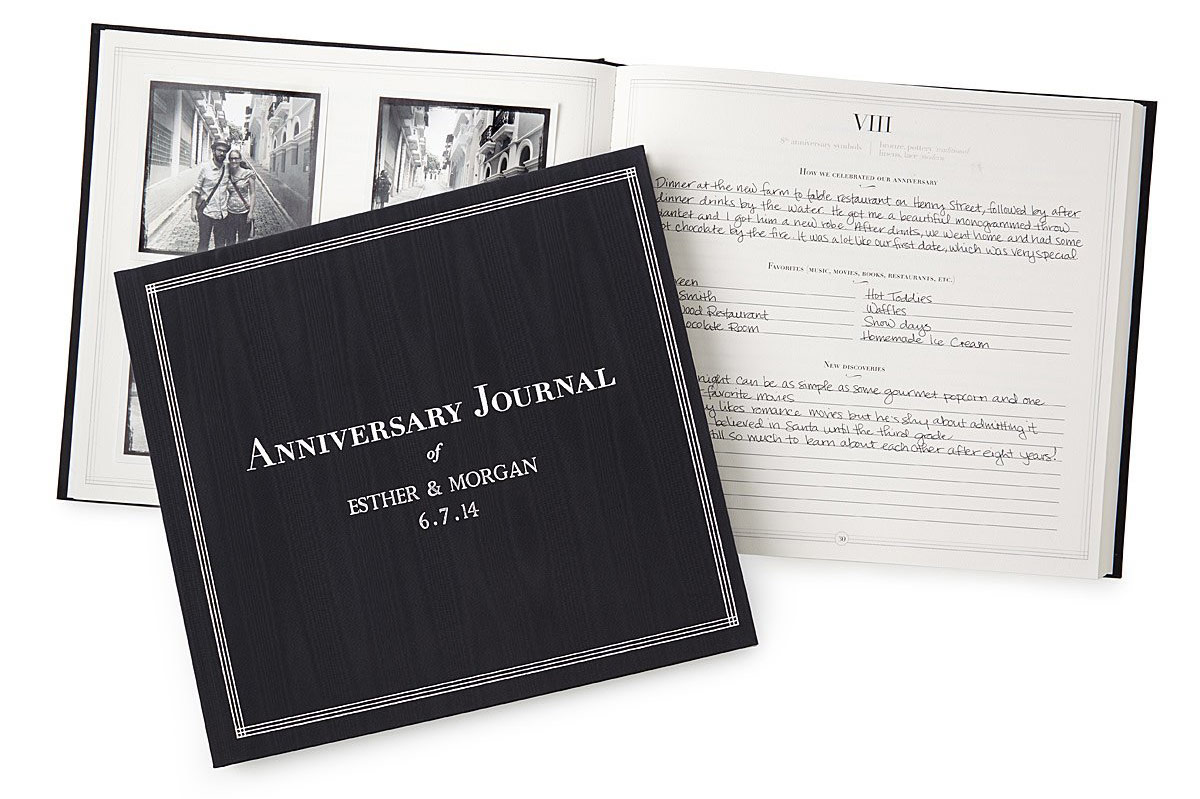 The Personalized Anniversary Journal | UncommonGoods