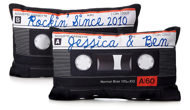 Personalized Mixtape Pillow | UncommonGoods