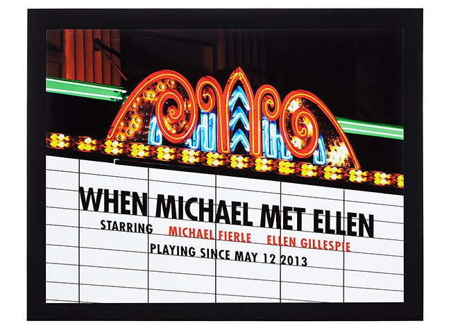 Personalized Movie Marquee Photo Print | UncommonGoods